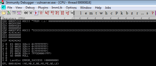EIP Overwrite Occurred