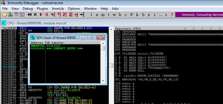 SeH OVerwrite with AAAA